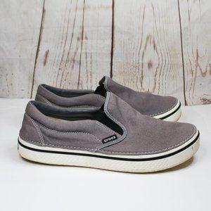Crocs Santa Cruz Men's Gray Canvas Slip On Shoes